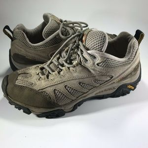 Merrell Hiking Outdoor Shoes Taupe Vibram Soles